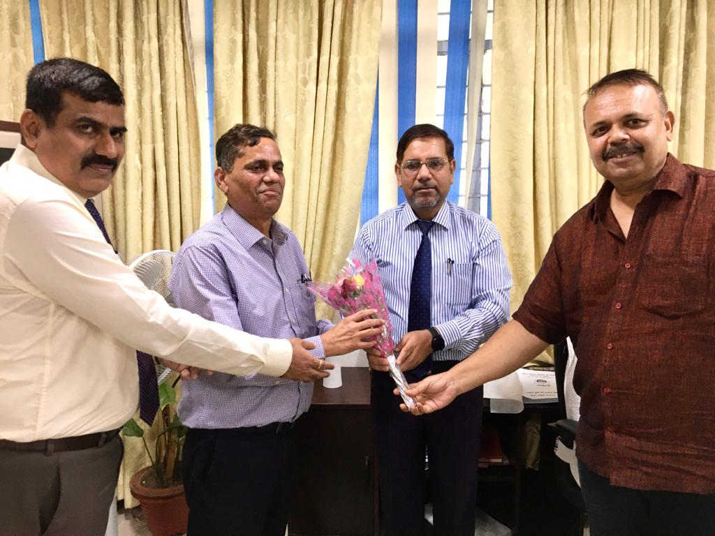 welcoming new CGM Nabard Shri Sunil Kumar and Farewell present CGM Nabard  Shri Amitabh Lal
