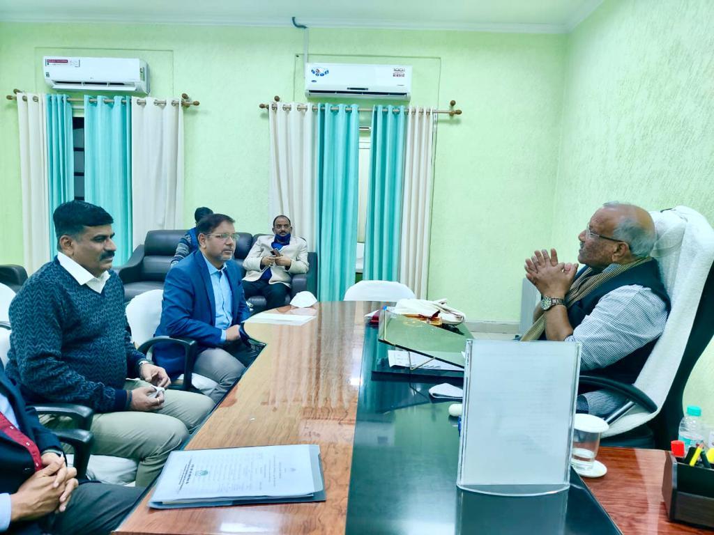 Curtsey Meeting with Hon'ble Dy. CM of Bihar Shri Tarkishore Prasad